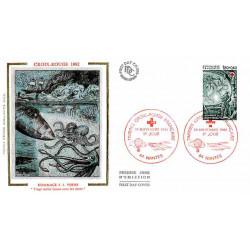 FDC soie - Croix-Rouge 1982...