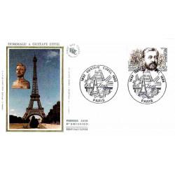 FDC soie - Gustave Eiffel,...