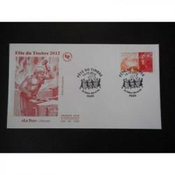 FDC - Fête du timbre 2012,...