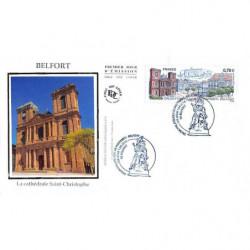 FDC soie - La cathédrale...