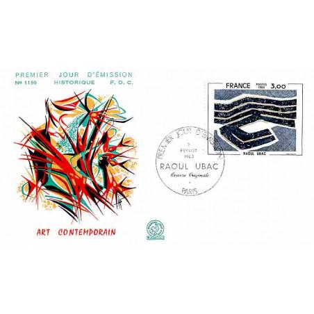 FDC n° 1150 - Raoul Ubac - Oeuvre originale - 2/2/1980 Paris