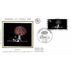FDC soie - Journée du Timbre 80 - 8/3/1980 Paris