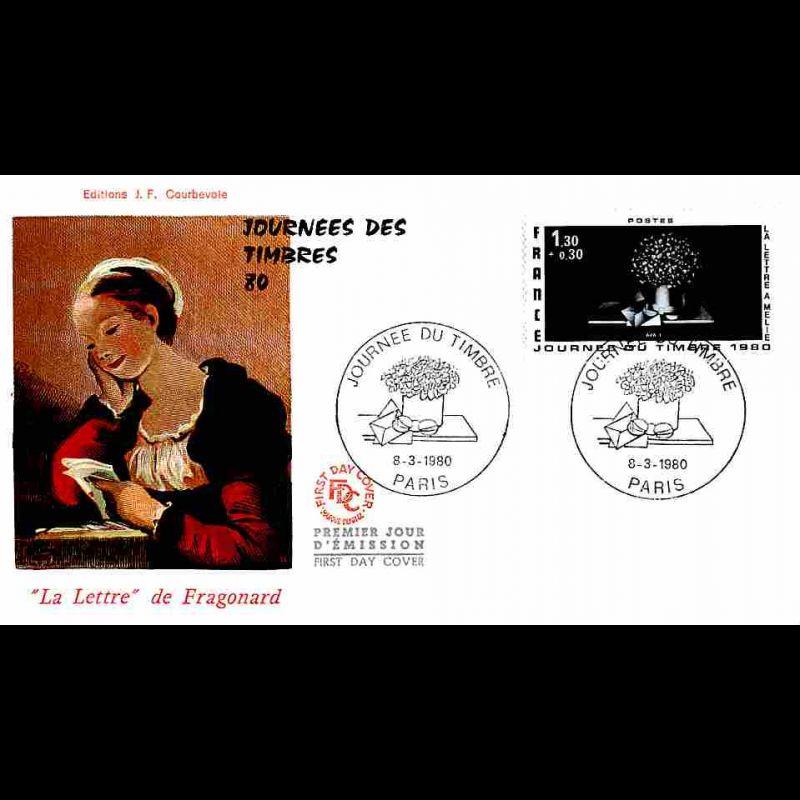 FDC JF - Journée du Timbre 80 - 8/3/1980 Paris
