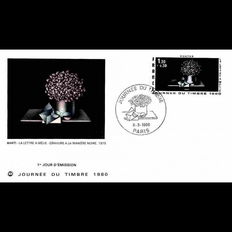 FDC FSPF - Journée du Timbre 80 - 8/3/1980 Paris