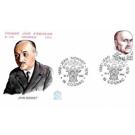 FDC n° 1155 - Jean Monnet, économiste français - 15/3/1980 Cognac