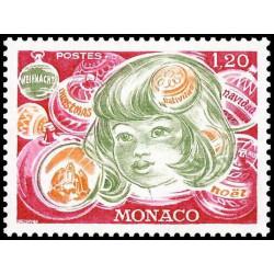 Timbre de Monaco N° 1073...