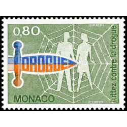 Timbre de Monaco N° 1074...
