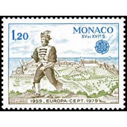 Timbre de Monaco N° 1186...