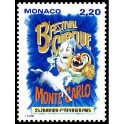Timbre de Monaco N° 1596...