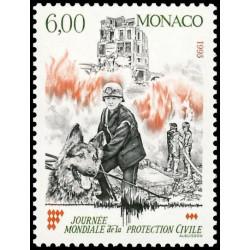 Timbre de Monaco N° 1870...