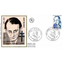 FDC soie - André Malraux,...