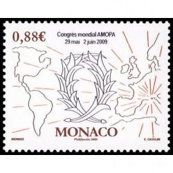 Timbre de Monaco N° 2668
