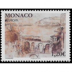 Timbre de Monaco N° 3138...