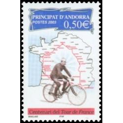 Timbre d'Andorre Français...