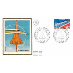 FDC soie - Concorde, mise...