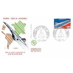FDC JF - Concorde, mise en...