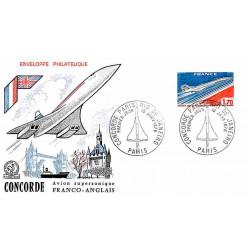 FDC - Concorde, mise en...