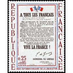 Timbre de France N° 1408...