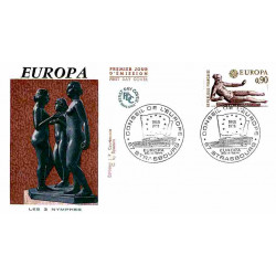 FDC JF - Europa, sculpture...