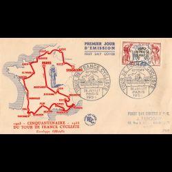 FDC - Cinquantenaire Tour...