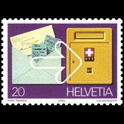 Timbre de Suisse N° 1110...