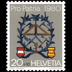Timbre de Suisse N° 1106...