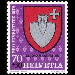 Timbre de Suisse N° 1098...