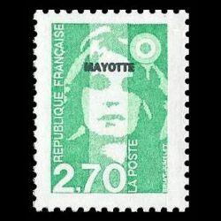 Timbre de Mayotte n° 37...