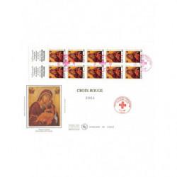 FDC GF soie - Carnet croix...